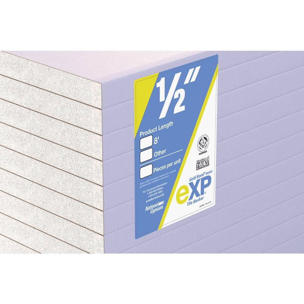 Gold Bond Exp Tile Backer 1 2 In X 4 Ft X 8 Ft Gypsum Board 50000938 The Home Depot