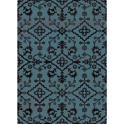 Aiza Collection Blue 5 ft. 3 in. x 7 ft. 3 in. Area Rug
