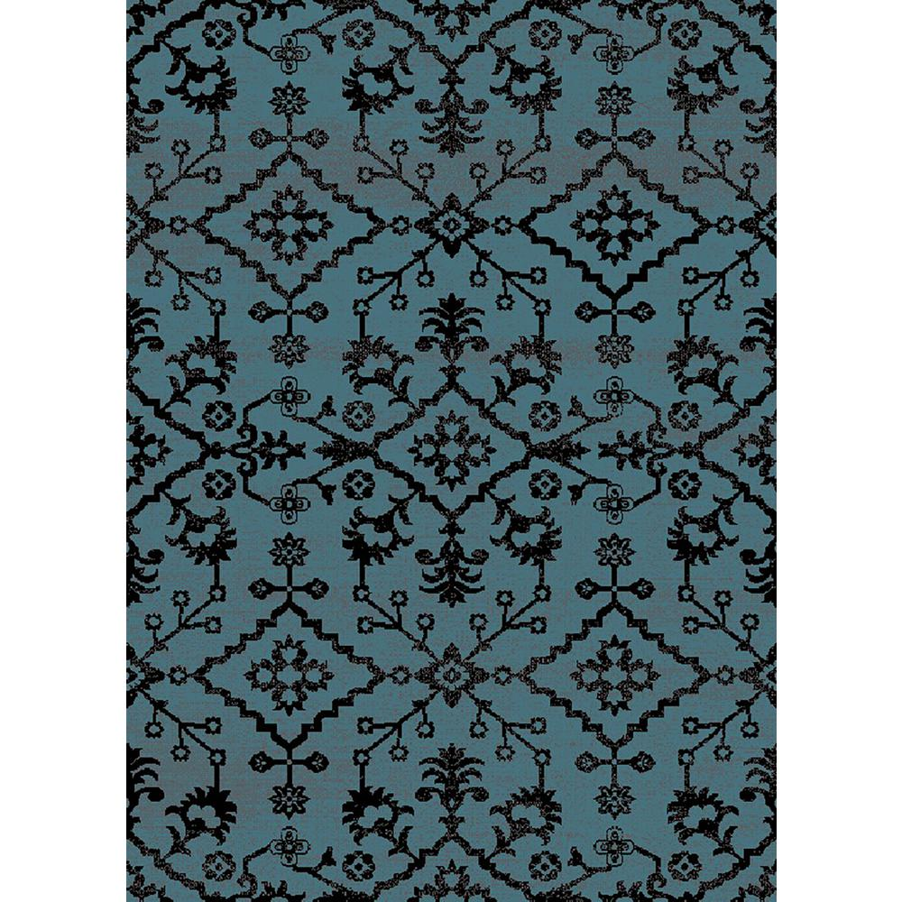 MAXY HOME Aiza Collection Blue 7 Ft. 10 In. X 9 Ft. 10 In