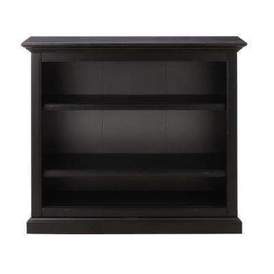 Ingrid Rubbed Black Open Bookcase