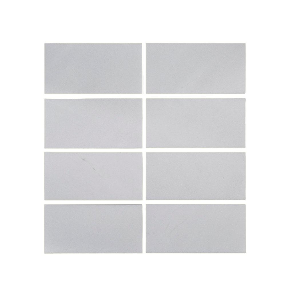 Thassos 3 in. x 6 in. Polished Marble Wall Tile (8-Piece/1
