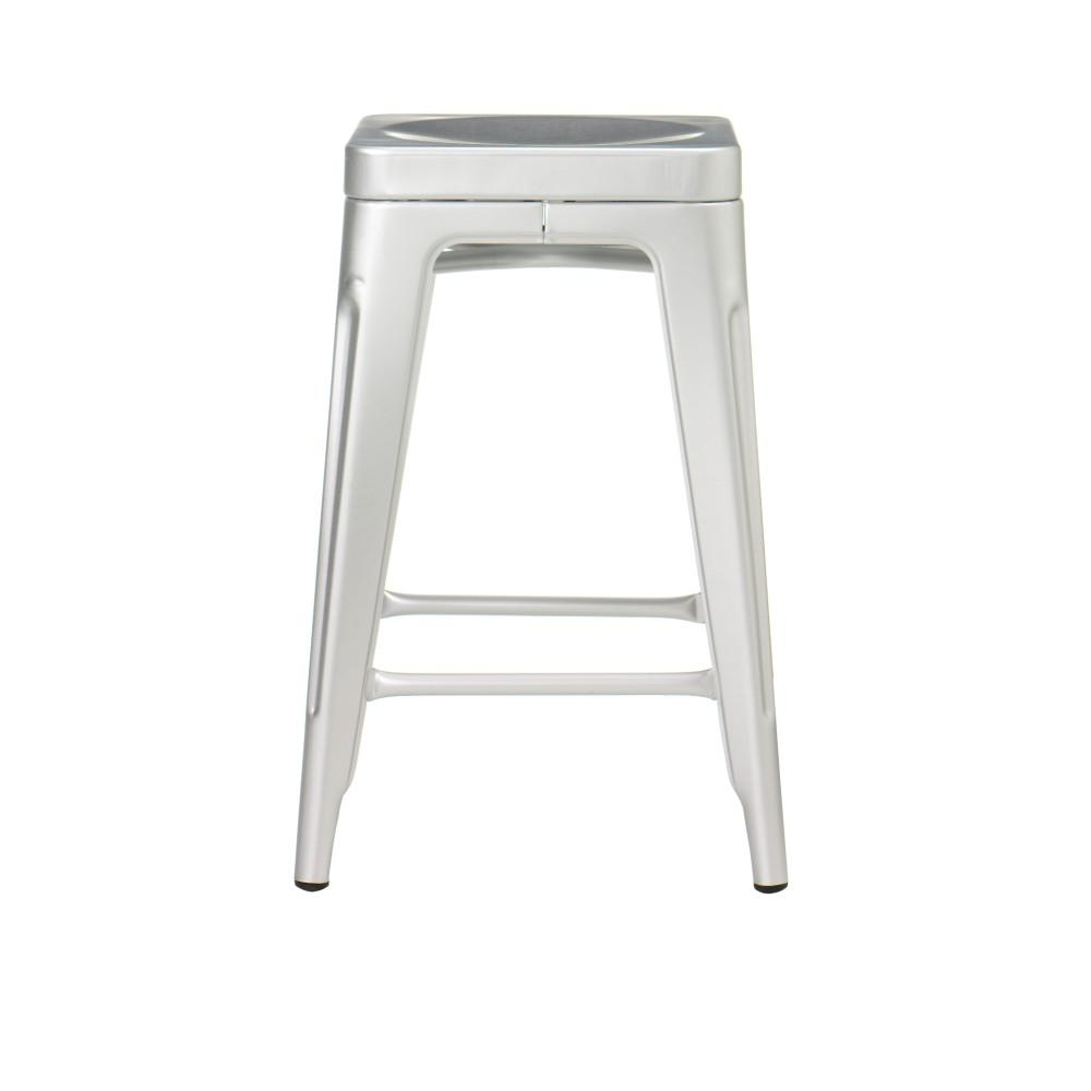 Charmant Home Decorators Collection Garden 24 In. Brushed Aluminum Counter Stool