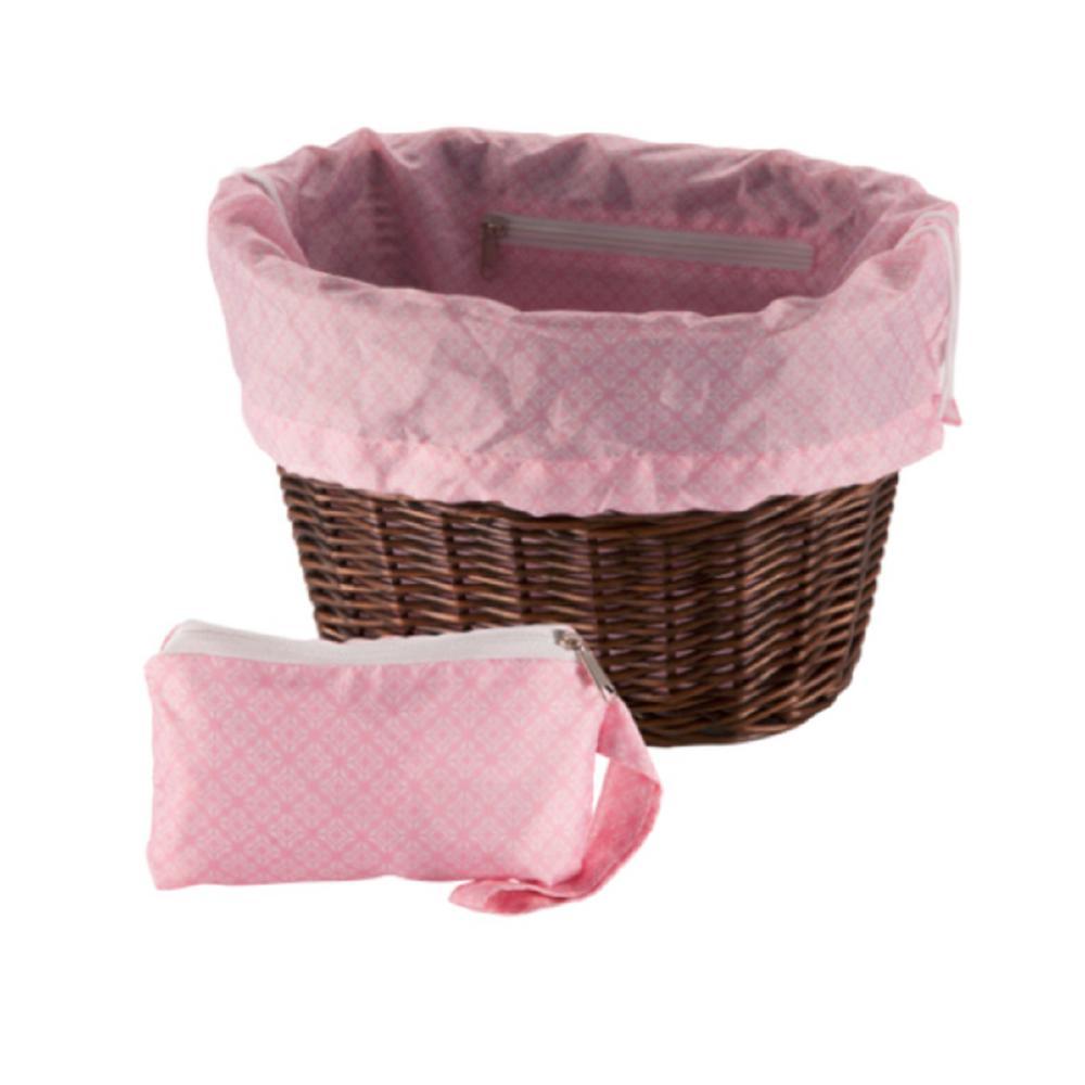 Universal Pink Geometric Squares Basket Liner and Bag