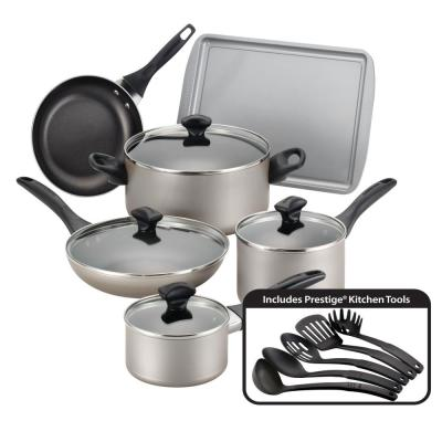 15-Piece Champagne Cookware Set with Lids