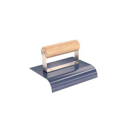 6 in. x 4 in. Blue Steel Edger with 1 in. Radius and Wood Handle
