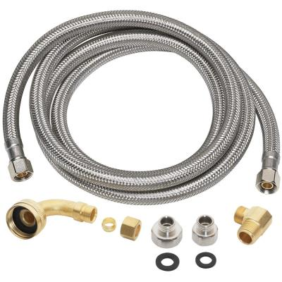 3/8 in. x 3/8 in. x 60 in. Universal Dishwasher Supply Line, Stainless Steel (10-Pack)