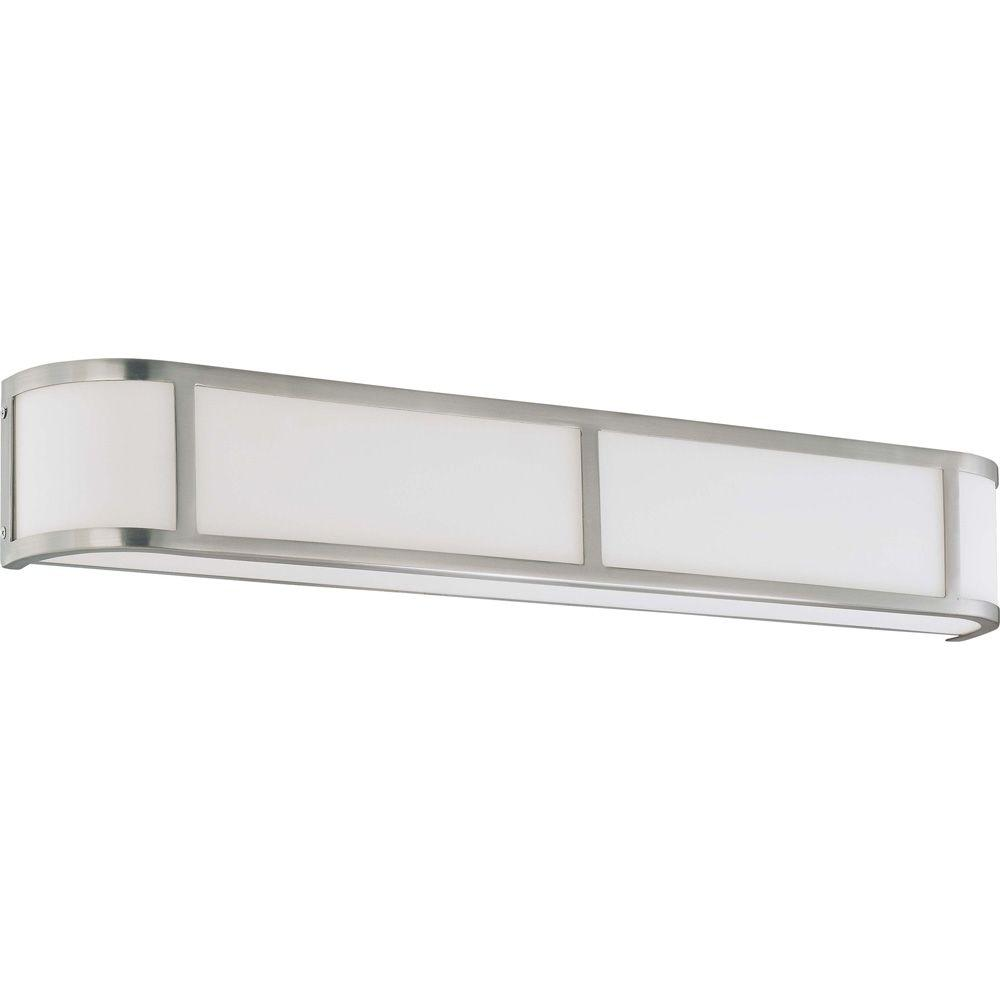 Andra 4-Light Brushed Nickel Sconce with Satin White Glass