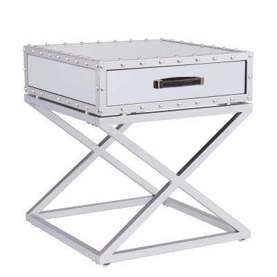 Harry Silver Mirrored End Table