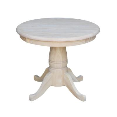 Round Dining Table Collection In Unfinished Wood