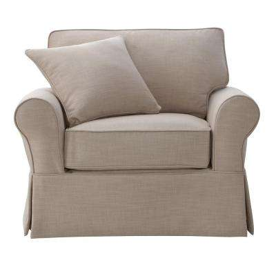 Mayfair Linen Pearl Fabric Arm Chair