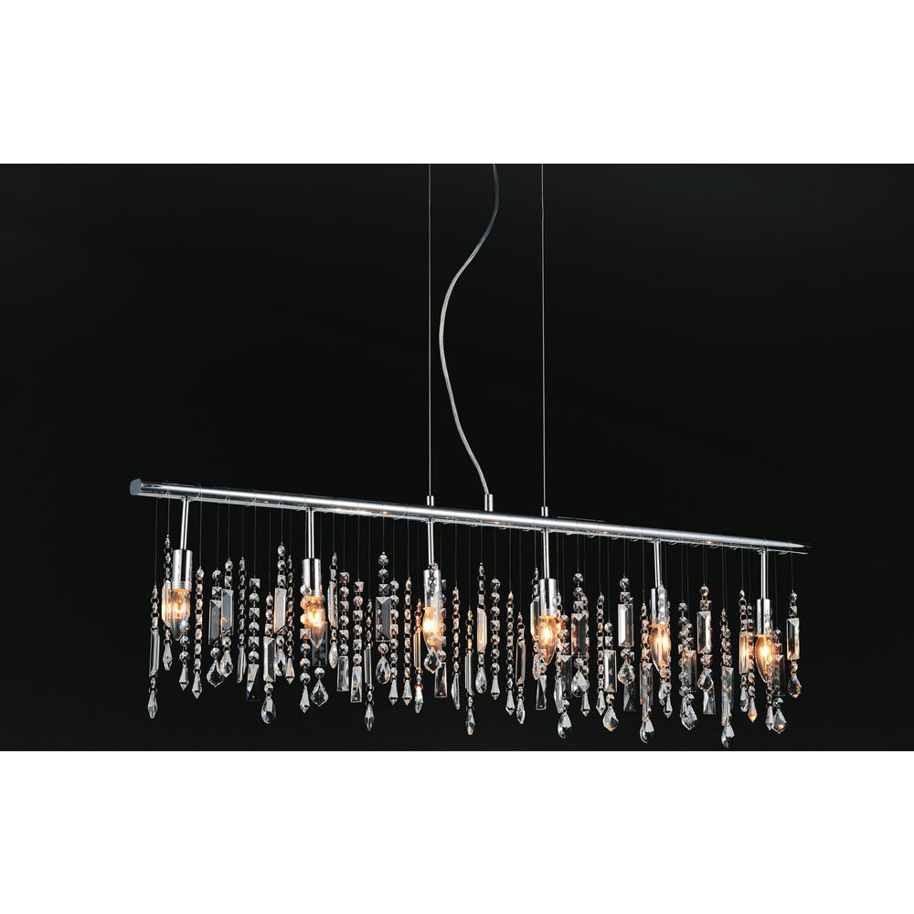 Janine 6-light chrome chandelier