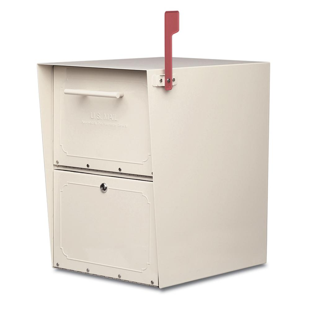 Architectural Mailboxes Oasis PostMount Or ColumnMount Locking Mailbox In  Sand With Outgoing Column Mount Mailbox M83