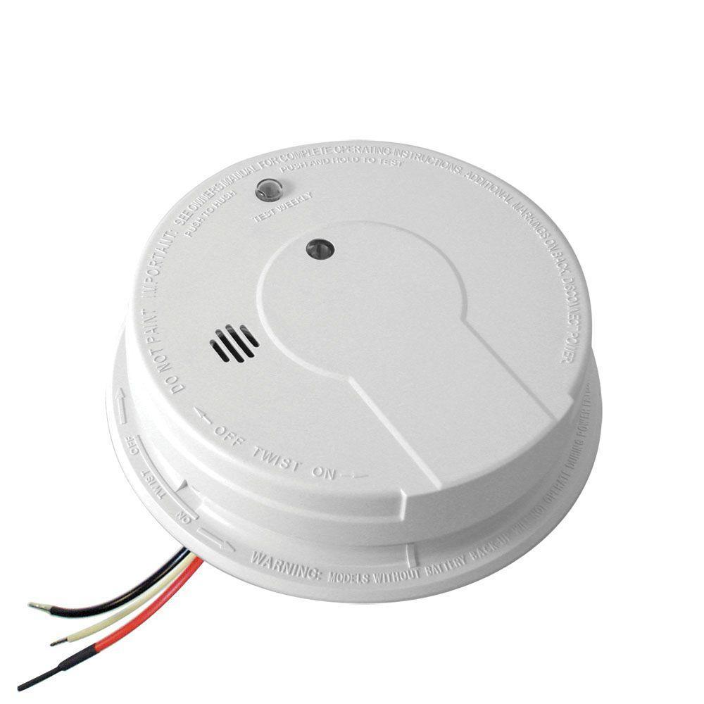 Kidde Hardwire Smoke Detector With 9 Volt Battery Backup 21006378