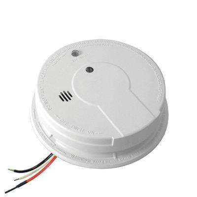 Code One Hardwired 120-Volt Inter-Connectable Smoke Detector with Battery Backup