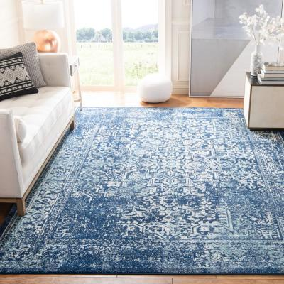Evoke Navy/Ivory 7 ft. x 7 ft. Square Area Rug