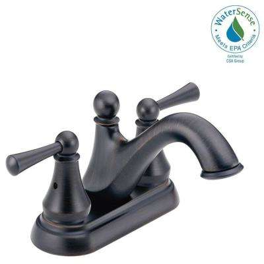 Haywood 4 in. Centerset 2-Handle Bathroom Faucet in Venetian Bronze