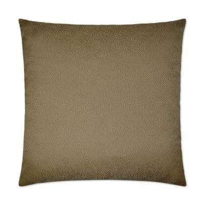 Siren Latte Feather Down 24 in. x 24 in. Standard Decorative Throw Pillow