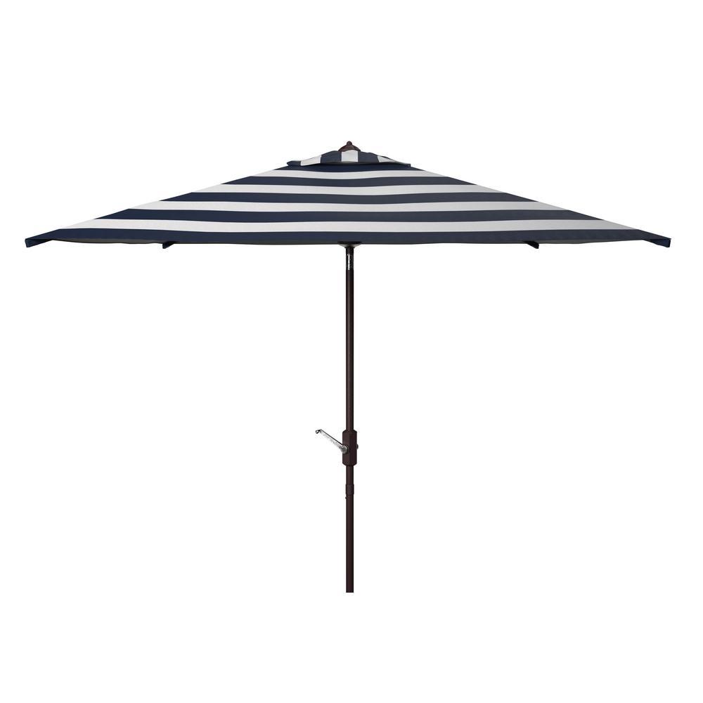 Iris 7.5 ft. Aluminum Market Tilt Patio Umbrella in Navy/White