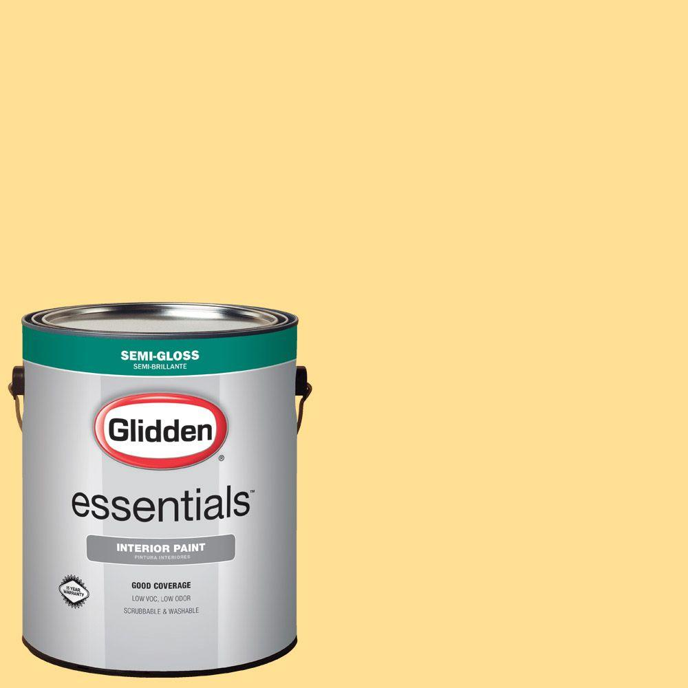 Reviews For Glidden Essentials 1 Gal Hdgy29 Sunny Semi Gloss Interior Paint Hdgy29e 01sn The Home Depot