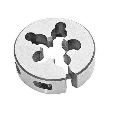 3/8 in.-24 x 1 in. Outside Diameter High Speed Steel Round Threading Die, Adjustable