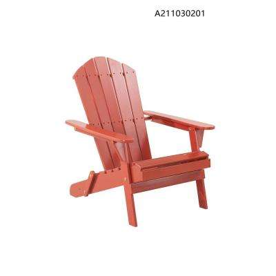 Excellent Adirondack Classic Chili Red Outdoor Patio Folding Wood Chair Lamtechconsult Wood Chair Design Ideas Lamtechconsultcom