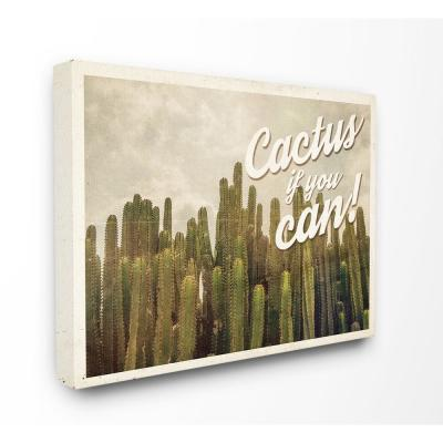 "16 in. x 20 in.""Cactus If You Can Cacti Photography Western Scene Postcard"" by Artist Ashley Hutchins Canvas Wall Art"