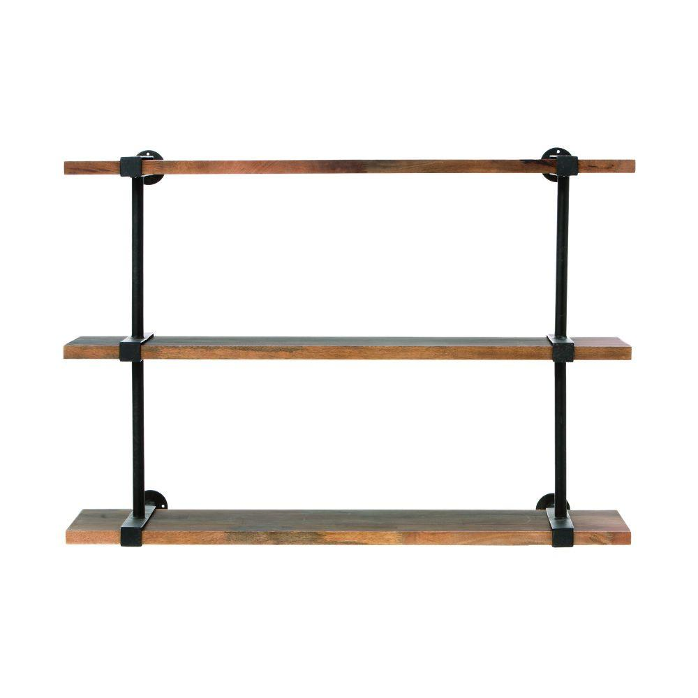 Home Decorators Collection Studio 40 in. W Wood Craft Wall Shelf