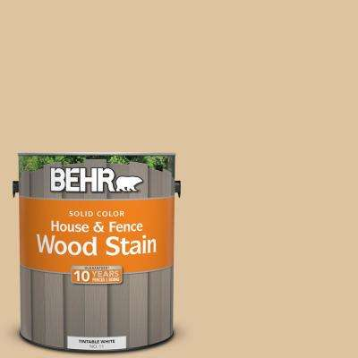 1 gal. #ECC-13-1 Canoe Solid Color House and Fence Exterior Wood Stain