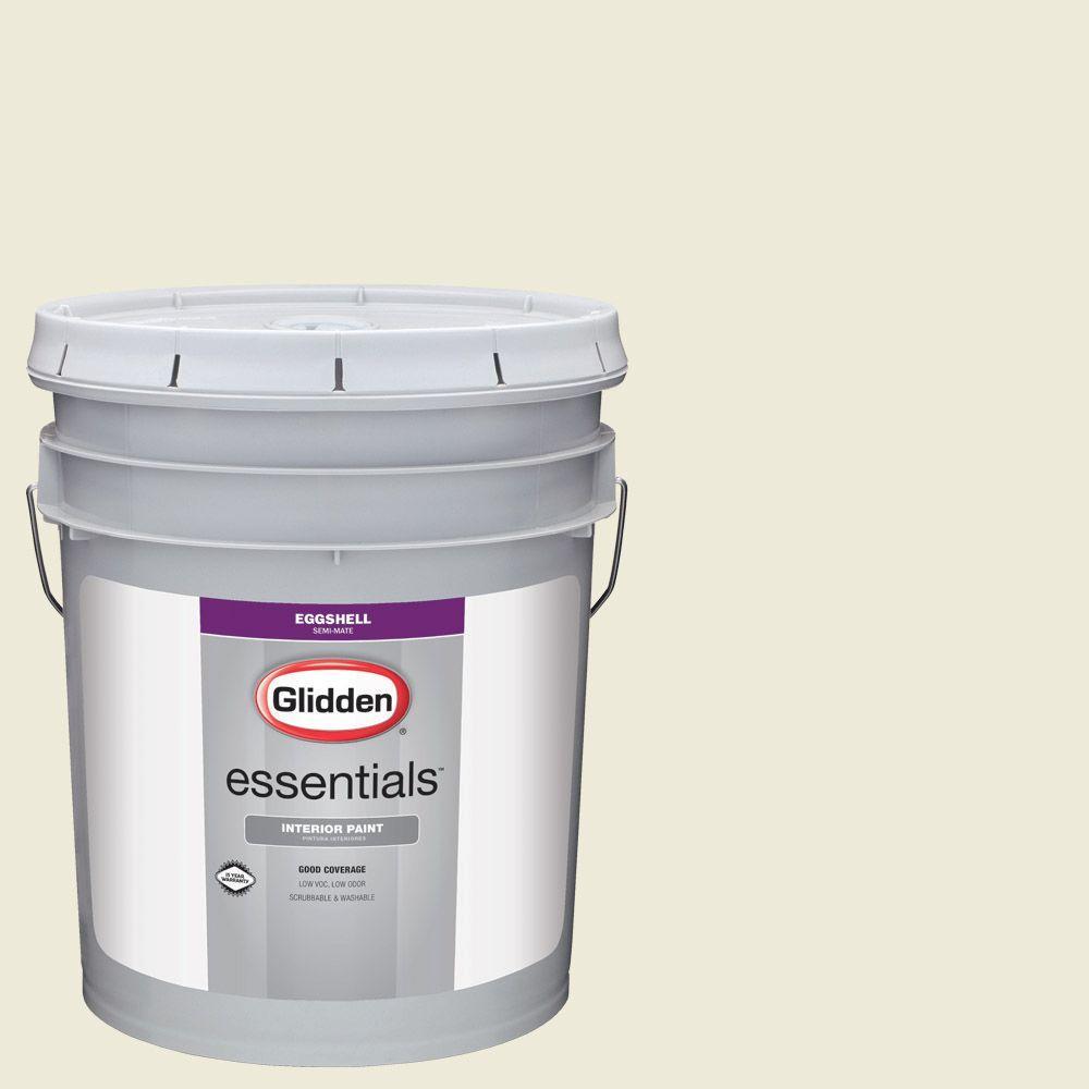 Glidden Essentials 5 gal. #HDGY56U Morning Daylight Eggshell Interior Paint