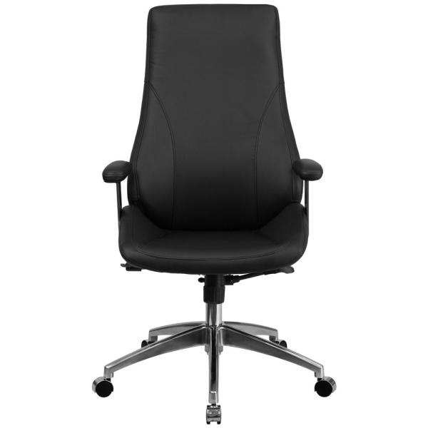 Flash Furniture High Back Black Leather Executive Swivel Office Chair BT90068H