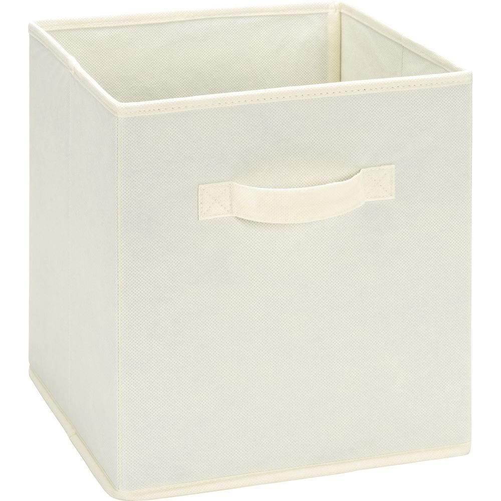 10.5 in. x 11 in. x 10.5 in. 5.25 Gal. Natural Fabric Storage Bin