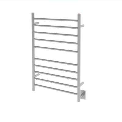 Comfort Dual 10-Bar Hardwired and Plug-in Towel Warmer in Brushed Stainless Steel