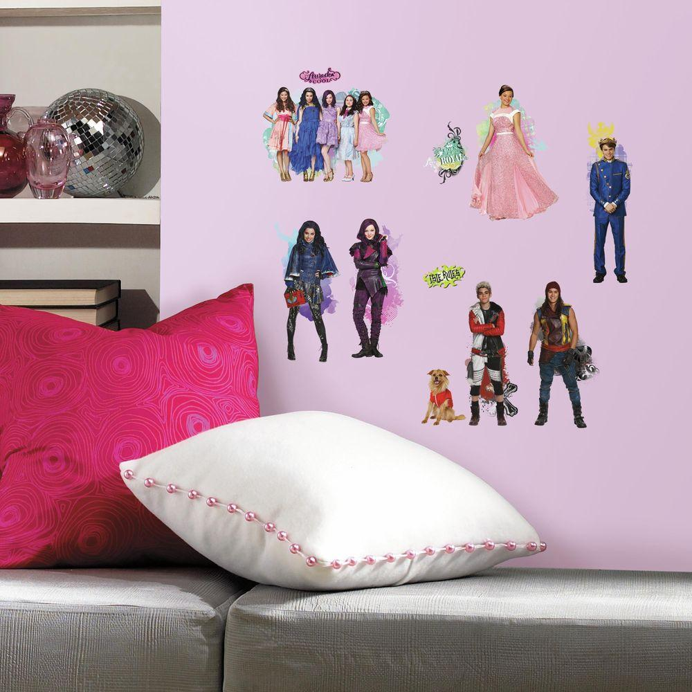 H Descendants 24 Piece Peel And Stick Wall Decal RMK2850SCS   The Home Depot Part 31