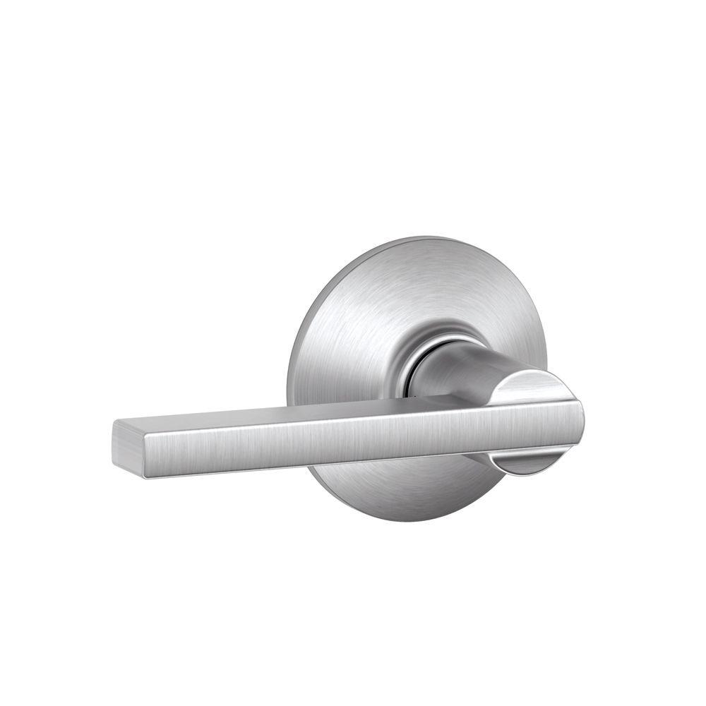 Schlage Latitude Satin Chrome Hall And Closet Lever F10