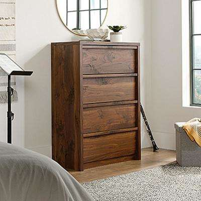 Harvey Park 4-Drawer Grand Walnut Chest