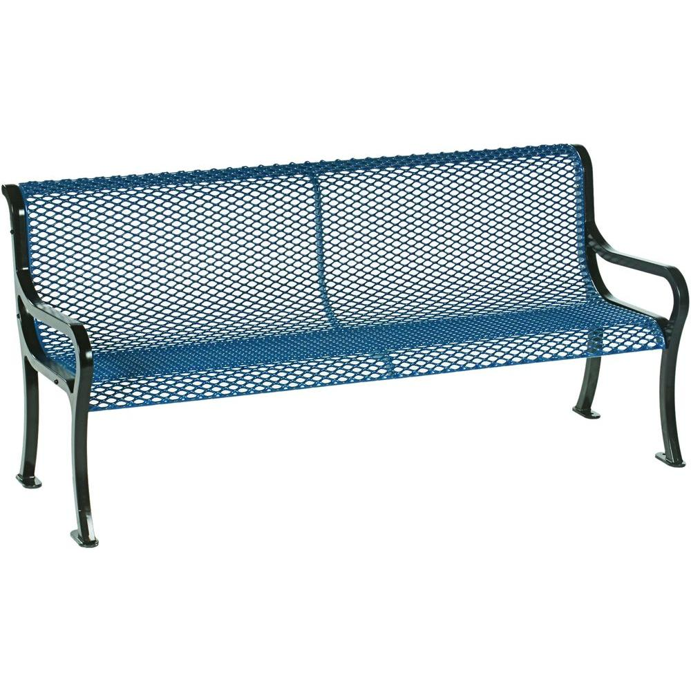 Tradewinds Symphony 6 ft. Blue Commercial Bench