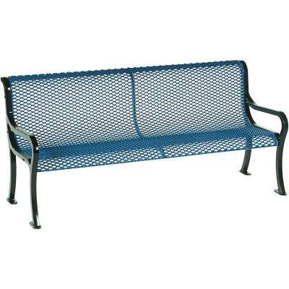 Symphony 6 ft. Blue Commercial Bench