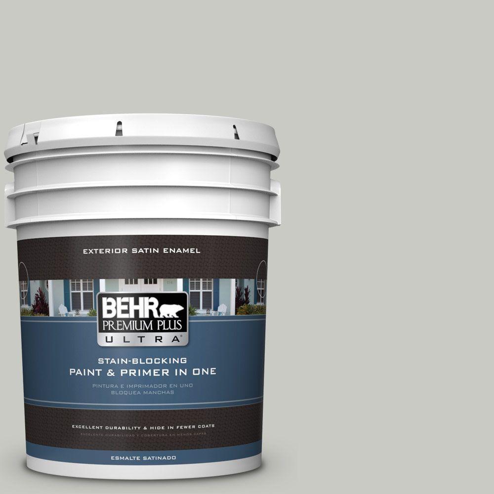BEHR Premium Plus Ultra 5-gal. #N380-2 Heath Gray Satin Enamel Exterior Paint