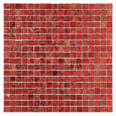 Micro Folia Glass Hawthorn Red 11-3/4 in. x 11-3/4 in. x 3.2 mm Glass Mosaic Tile (9.59 sq. ft. / case)