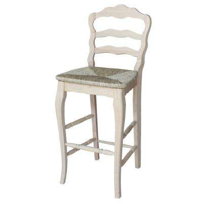 International Concepts Versailles 29.9 inch Unfinished Wood Bar Stool