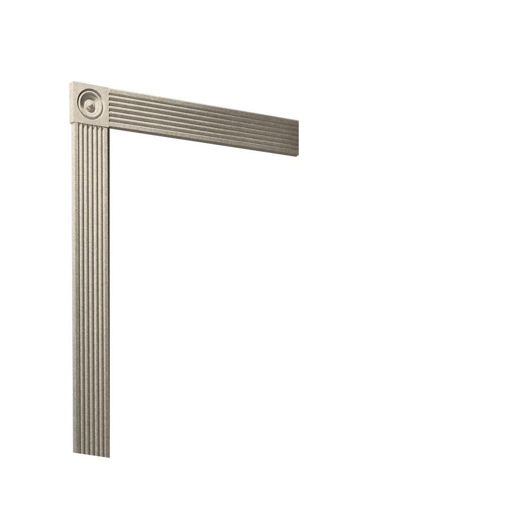 Swanstone Easy Up Adhesive Solid-Surface Decorative Shower Wall Trim Kit in Almond Galaxy-DISCONTINUED