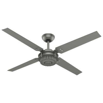 Chronicle 54 in. Outdoor Matte Silver Ceiling Fan