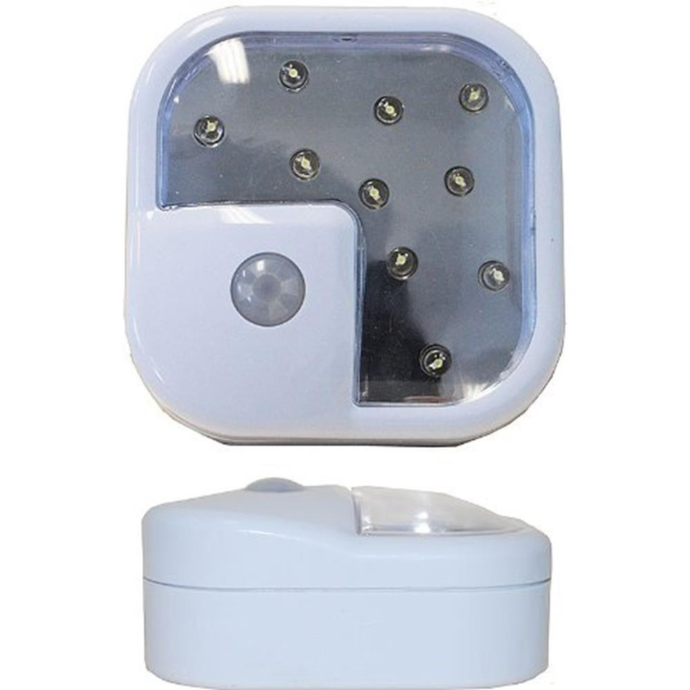 10-LED Wireless Motion Sensor Night Light (2-Pack)