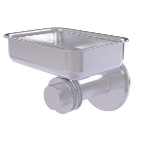 Allied Brass Mercury Collection Wall Mounted Soap Dish with Dotted Accents in Satin Chrome by Allied Brass