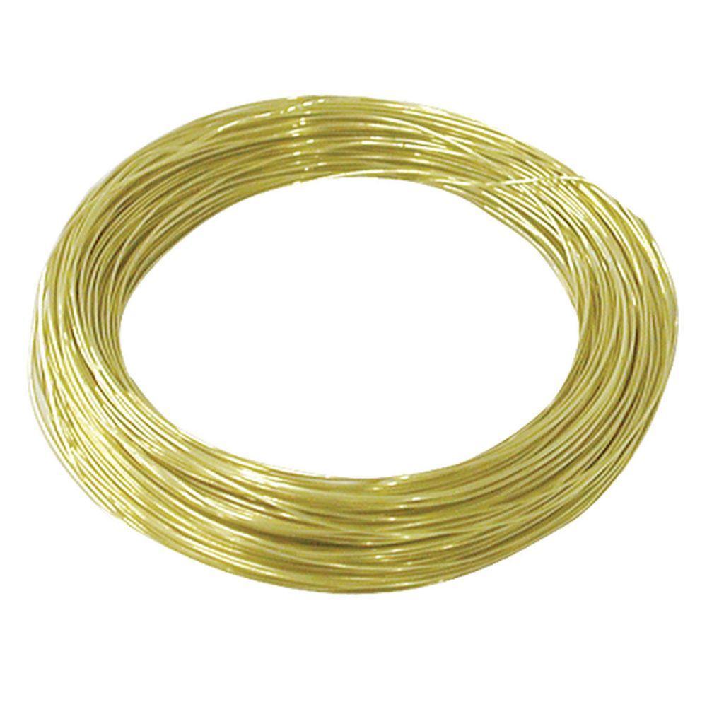 75 ft. 25 lb. 28-Gauge Brass Hobby Wire