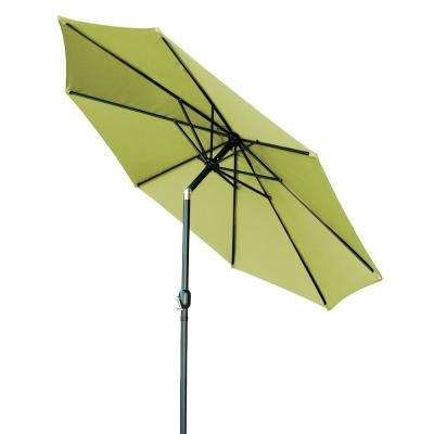 10 ft. Market Tilt Crank Patio Umbrella in Light Green