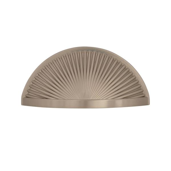 Amerock Sea Grass 3 In 76 Mm Center To Center Satin Nickel Cabinet Drawer Cup Pull Bp36615g10 The Home Depot