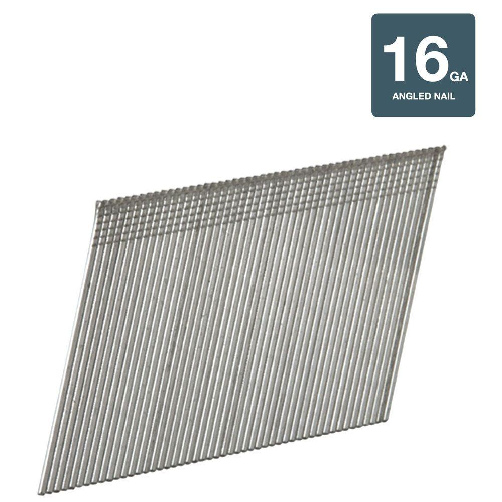 Hitachi 1-3/4 in. x 16-Gauge Electro Galvanized Angled Finish Nails (2,000-Pack)