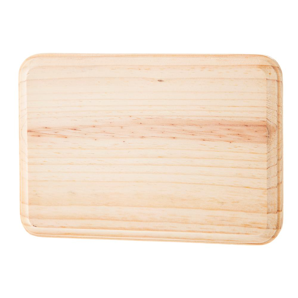 Darice 5 in. x 7 in. Rectangle Pinewood Plaque-30055903 - The Home Depot