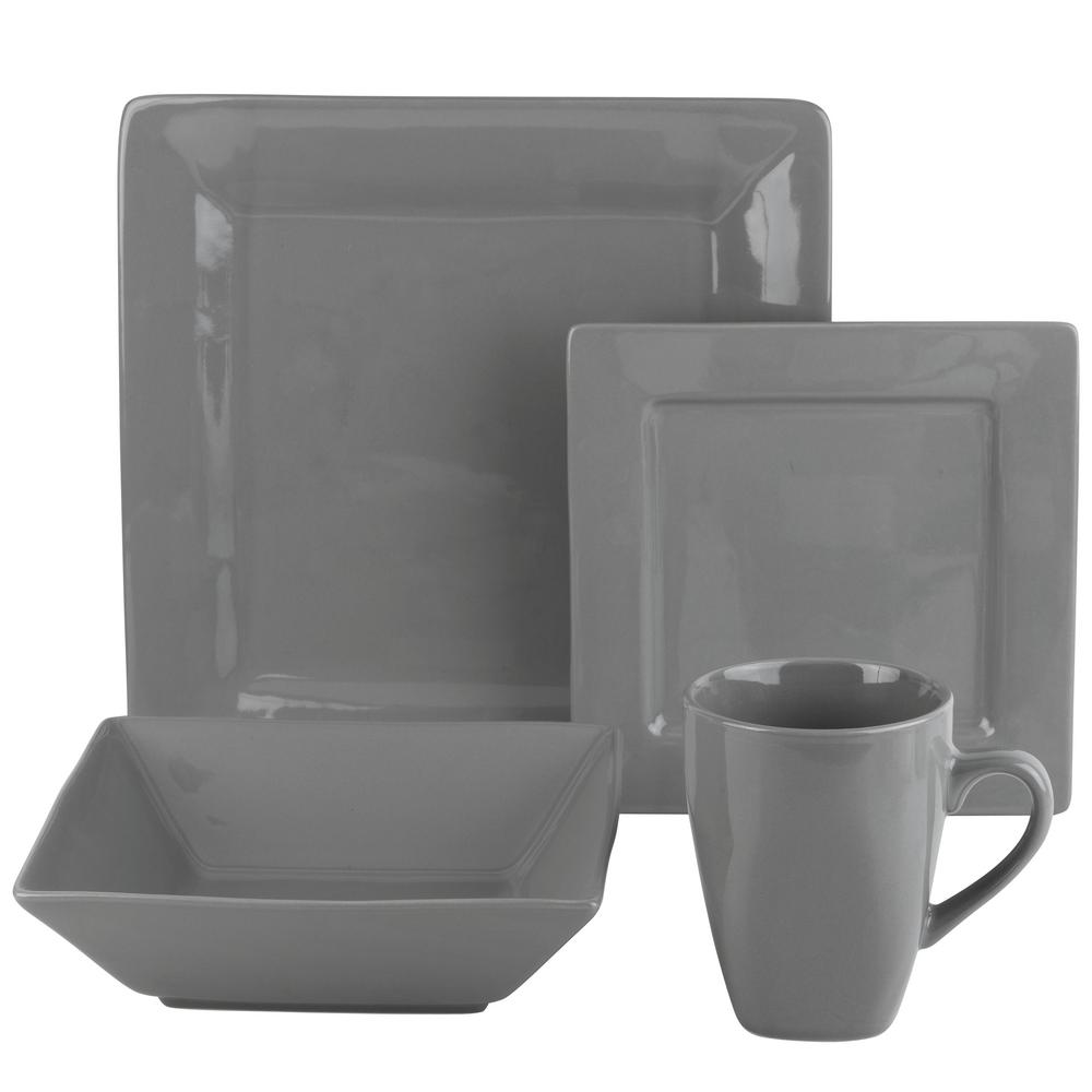 This review is fromNova 16-Piece Gray Square Dinnerware Set  sc 1 st  The Home Depot & 10 Strawberry Street Nova 16-Piece Aqua Square Dinnerware Set-WM ...
